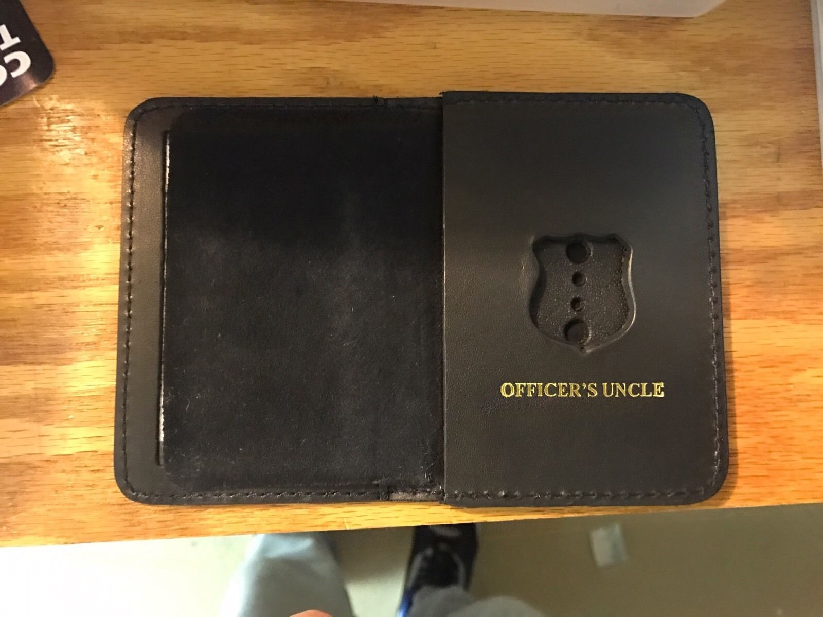 NYPD Police Officer Mini Badge Officer Uncle  bi-fold Wallet - 2016 NYPD PBA