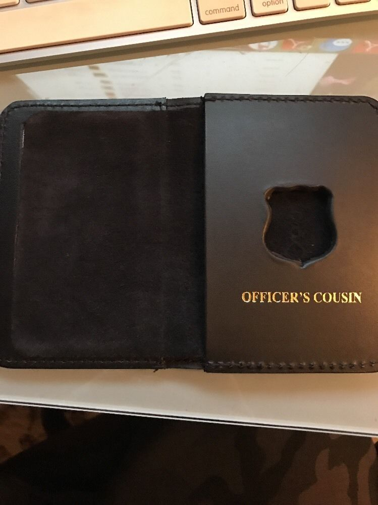 NYPD Police Officer Mini Badge Officer Cousin bi-fold Wallet - 2016 NYPD PBA