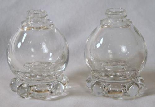 CANDLEWICK  Glass Salt & Pepper Shakers  No Lids  #519