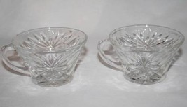 Set of 2 Anchor Hocking Prescut-Clear Star Fan Snack or Punch Cup  #1722 - $8.00