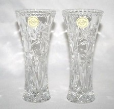 LENOX CRYSTAL Star Vase  Set of 2  NEW w/Certificates  #938 - $40.00