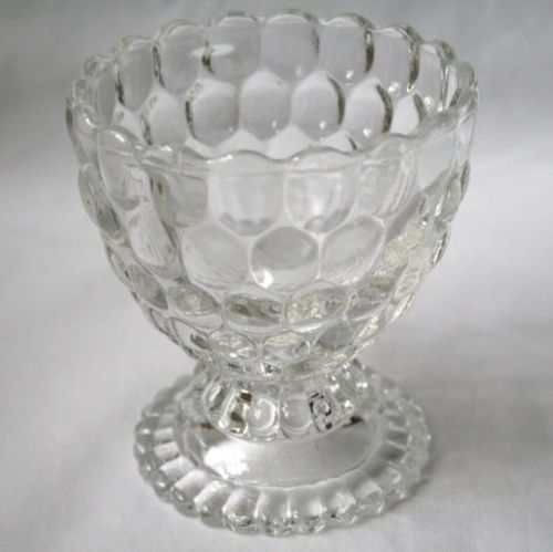 AVON Bubble Clear Glass Footed Candy Dish  #370