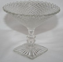 Vintage WESTMORELAND English Hobnail Clear Compote   #614 - $20.00