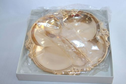 Vintage International Empress Deepsilver Gold Electro 2 Pc Party Set  NIB #992