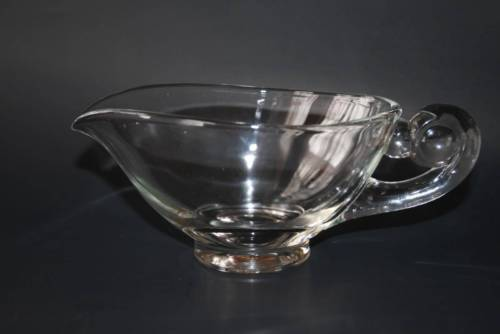 Vintage Indiana Glass Heavy Clear Gravy Boat  #1564