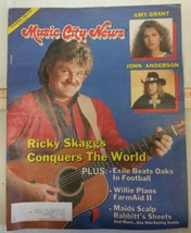 Ricky Skaggs Conquers The World Cover of Music City News December 1985 Magazine