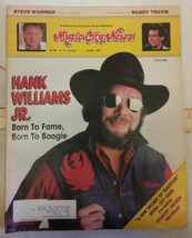Hank Williams Jr. Cover of Music City News June 1987 Magazine Born to Boogie