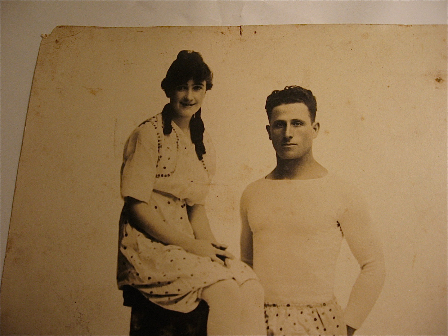 Vintage Circus related Photograph - Aerial Performing Duo..New York Studio .