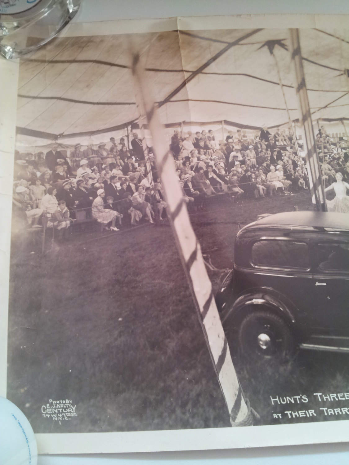 Three Ring Circus photograph  June 1933 introducing first Pontiac built by GM