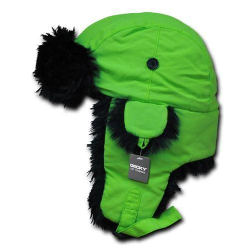 DECKY Neon Faux Fur Aviator Bomber Ear Flaps Winter Ski Trooper Hat Hats 778 779