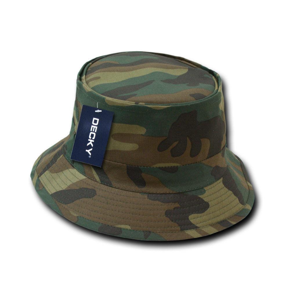 DECKY Plain Blank Camo Fisherman's Bucket Hat
