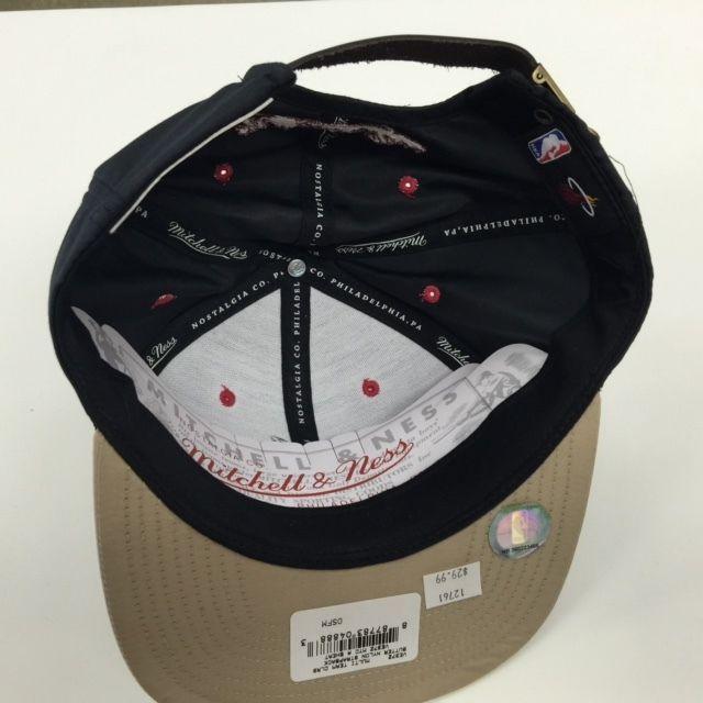 Mitchell & Ness NBA Miami Heat Butter Nylon Strapback Adjustable Cap Hat 12761