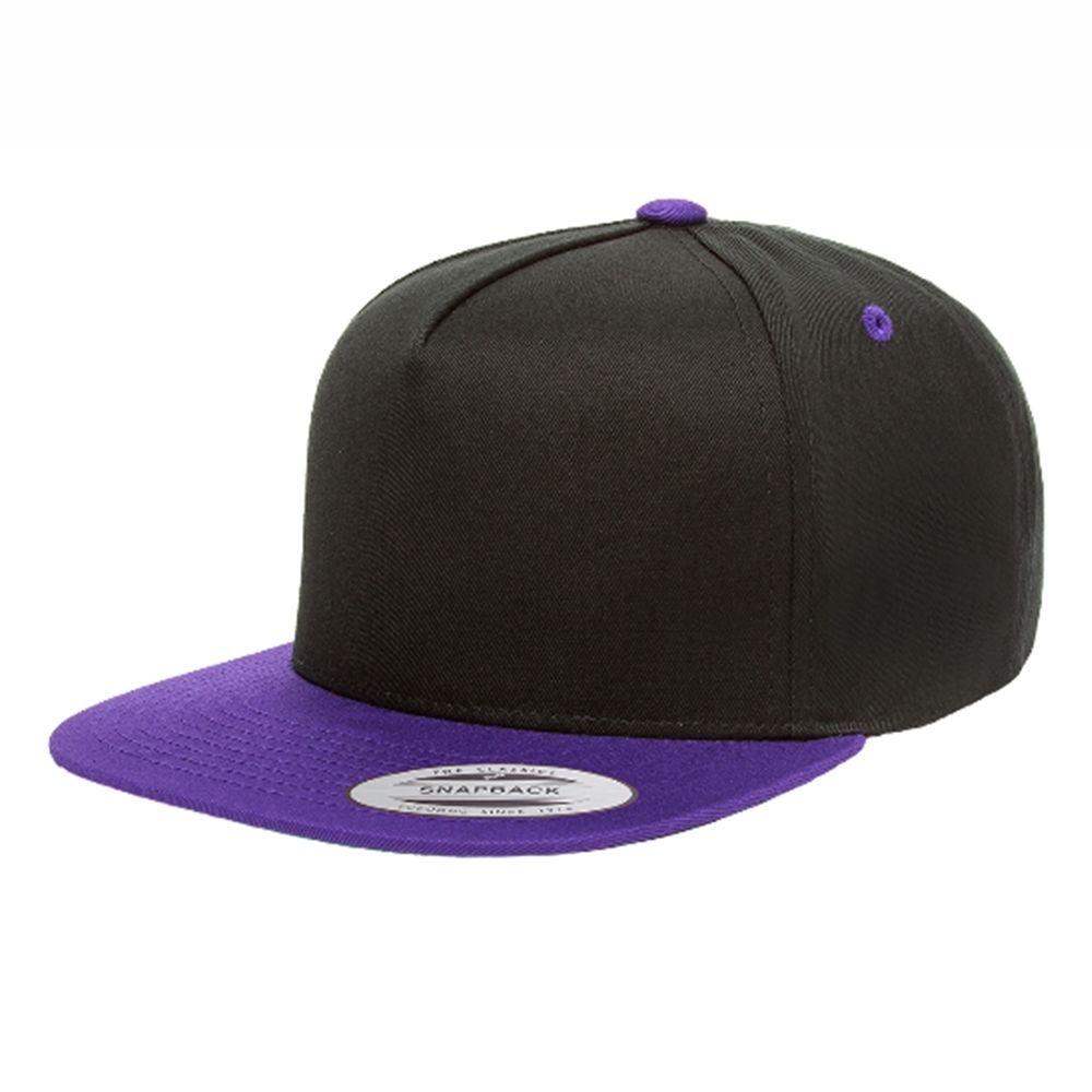 Yupoong 5 Panel Cotton Twill Snapback 2-Tone Cap Hat 6007T