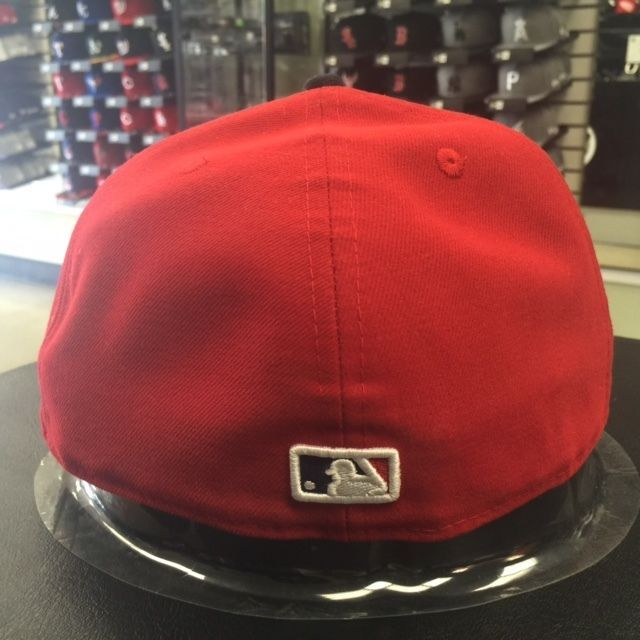 New Era 59Fifty MLB Los Angeles Angels White Front Red Fitted Cap