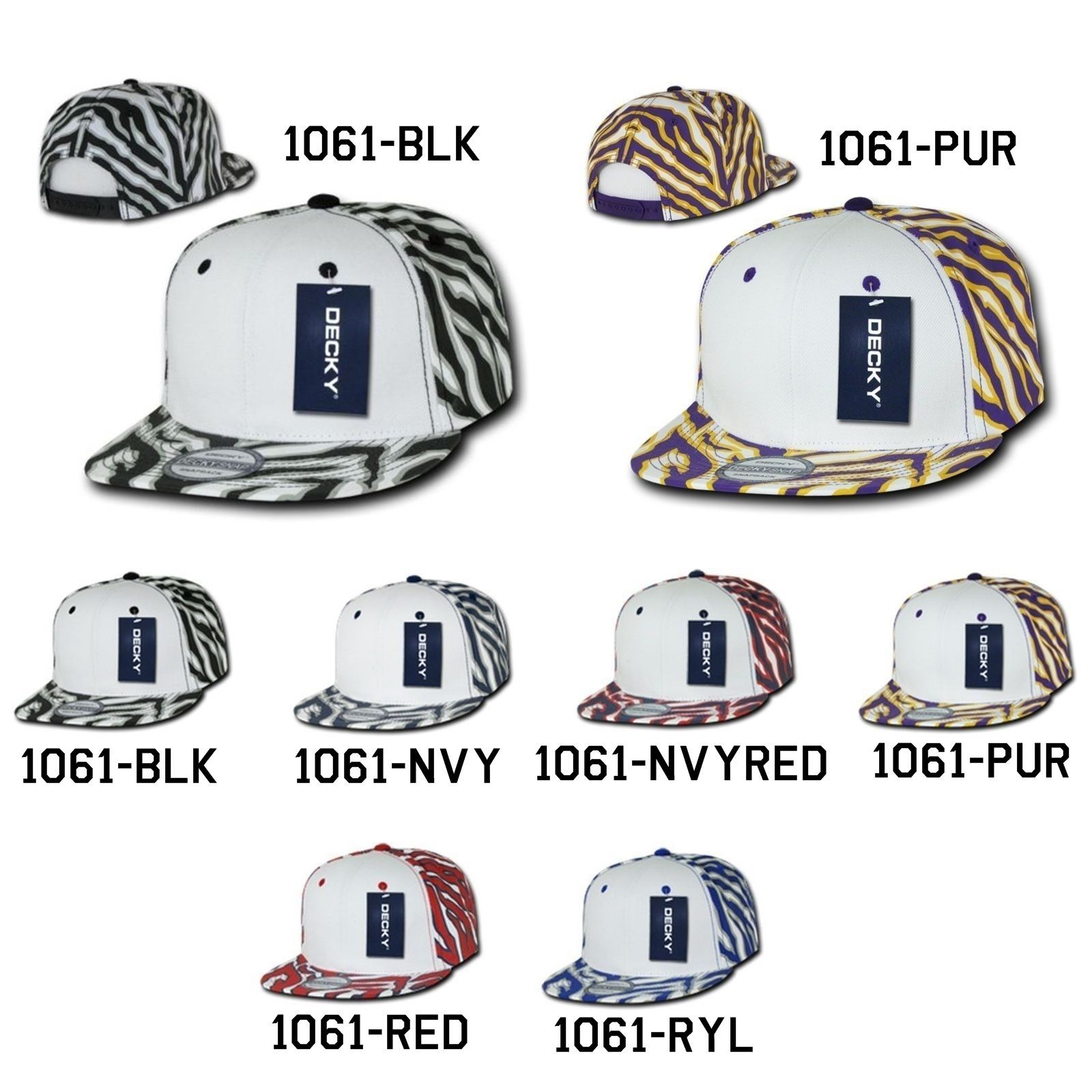 CUSTOM EMBROIDERY Personalized Customized Decky Ziger White Front Snapback 1061
