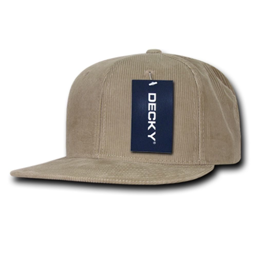 DECKY Corduroy 6-panel Snapback Adjustable Baseball Cap Hat 1076