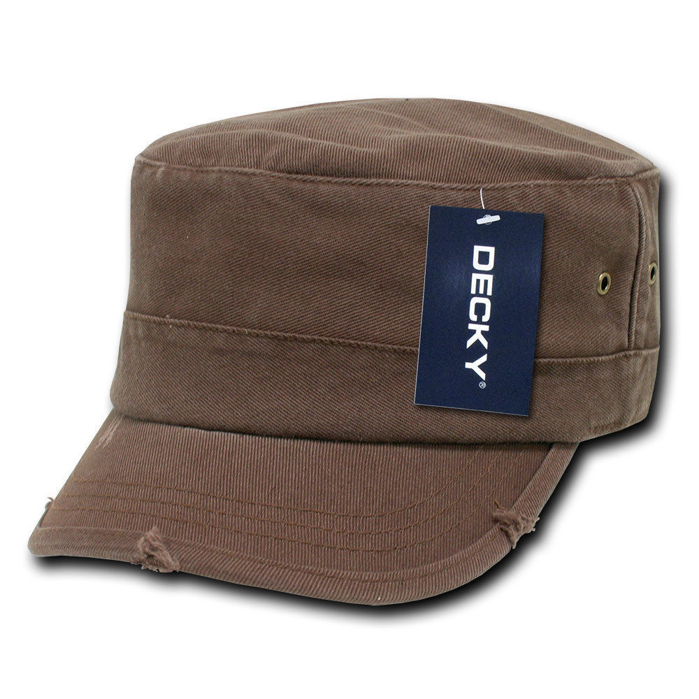 DECKY Military Vintage GI Distressed Fitted Cap Hat GR4