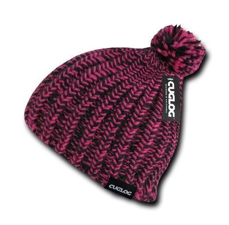 DECKY Hewitts Beanie Uncuffed Pom Pom Knit Cap Hat K021