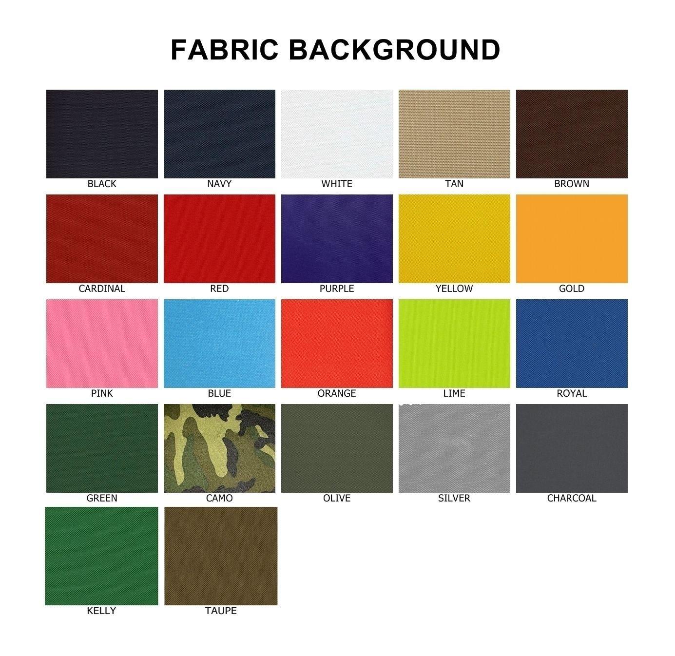 "Custom Embroidered 8"" Full Vest Set Rocker Patch Biker Patch (B) - 7 PC"