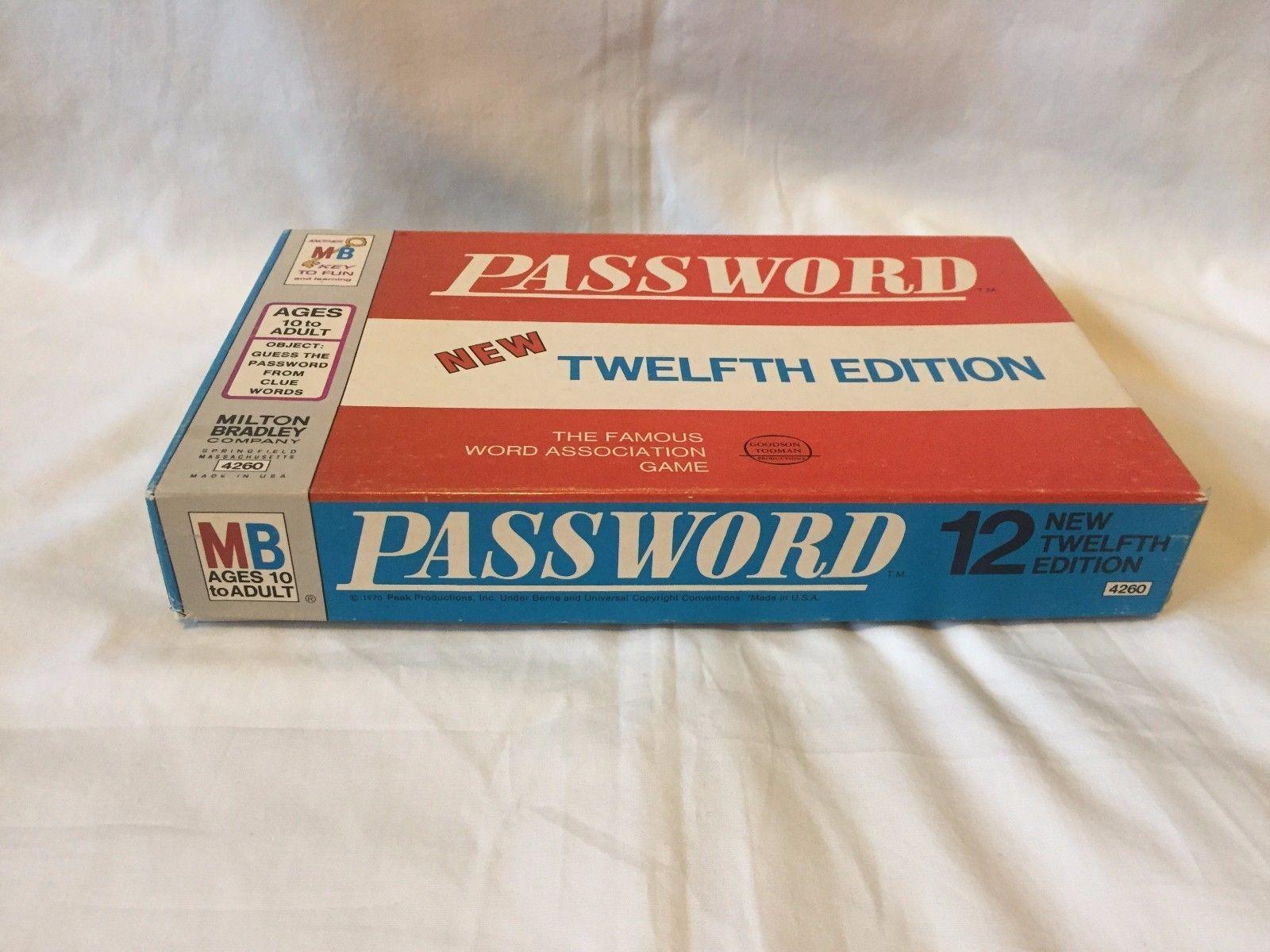 Vtg Password Twelfth Edition Board Game