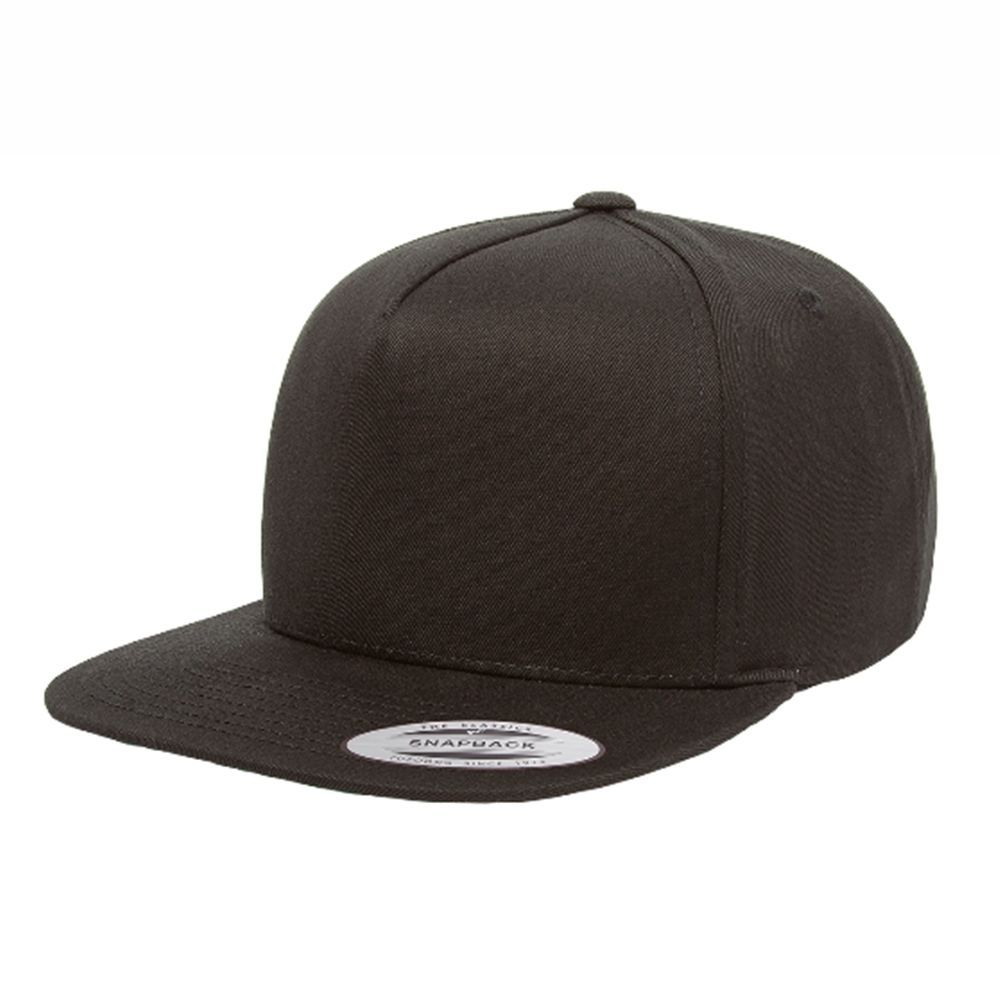 Yupoong Flexfit 5 Panel Cotton Twill Snapback Cap Hat 6007