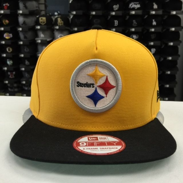 New Era 9FIFTY Pittsburgh Steelers Gold/Black Adjustable Snapback Cap Hat 6510