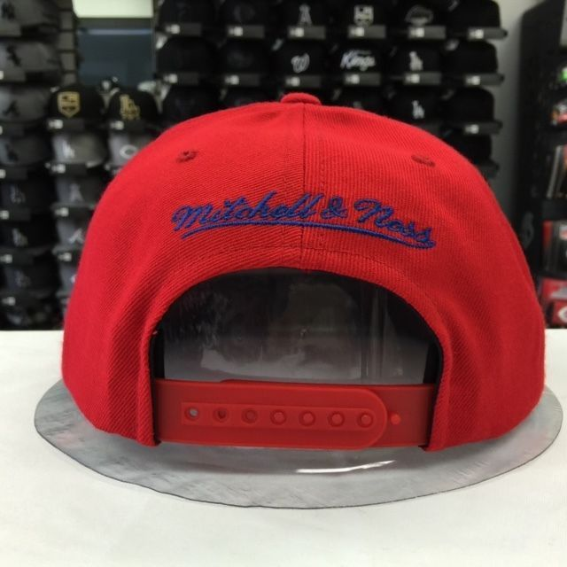 Mitchell & Ness NBA Los Angeles Clippers Red Blue Adjustable Snapback #9938