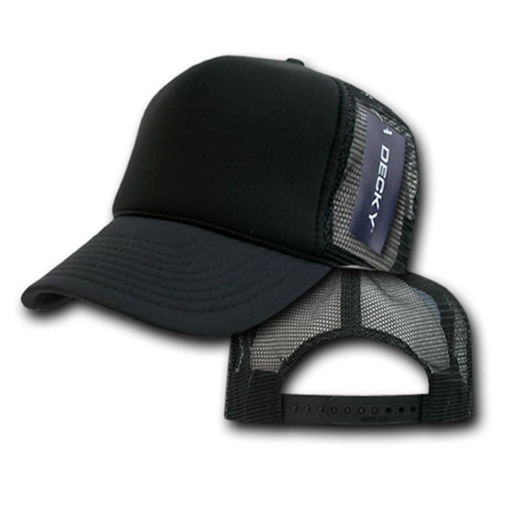 DECKY 6-Panel Curved Bill Solid Color Foam Trucker Mesh Snapback Cap Hat 211