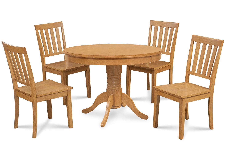 """36"""" BROOKLINE DINETTE DINING ROOM TABLE SET  IN OAK FINISH"""