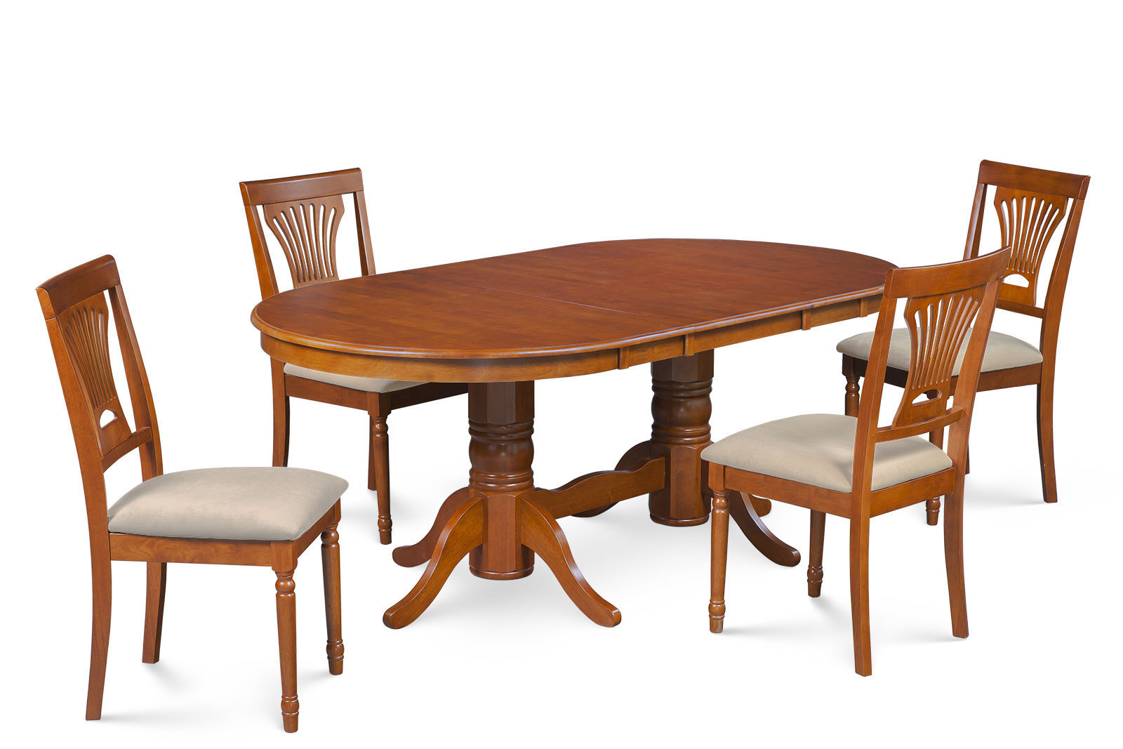 "DINETTE DINING ROOM TABLE SET 42""X78"" W. SOFT-PADPED SEAT IN SADDLE BROWN"
