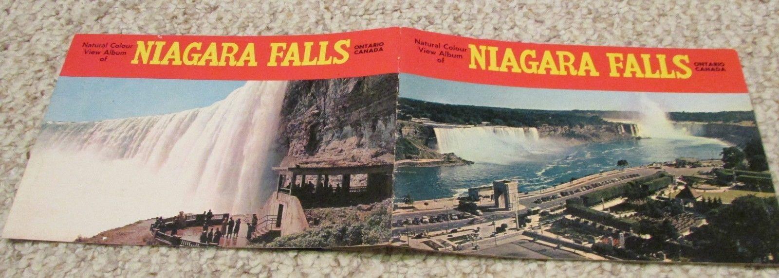 Niagara Falls Horseshoe Canada  Buffalo NY Vintage travel souvenier booklet