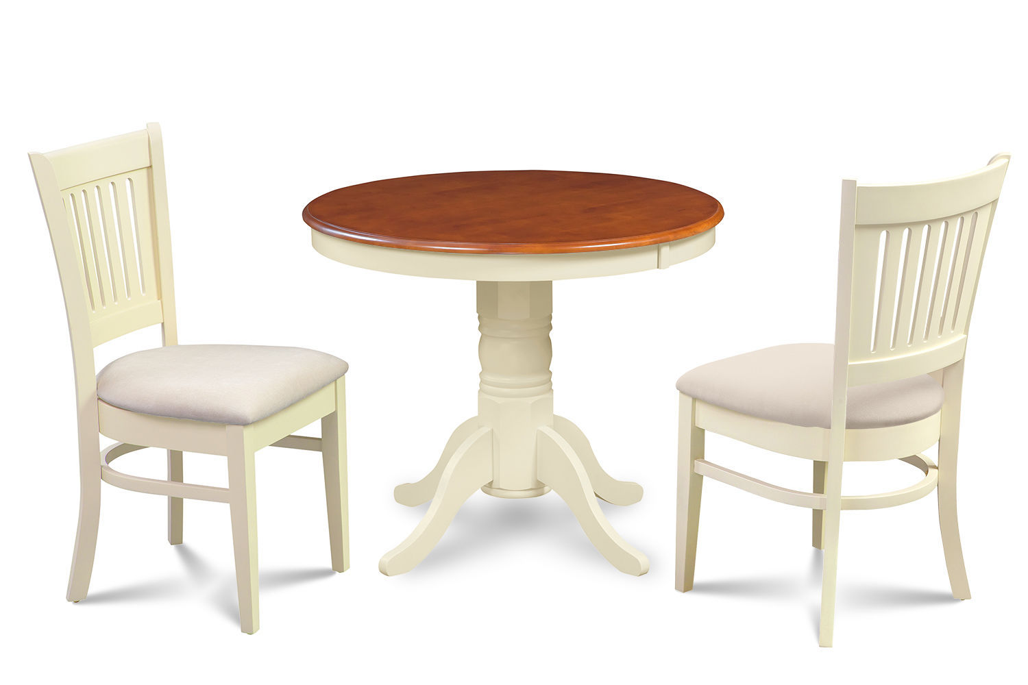 """36"""" BROOKLINE DINETTE DINING ROOM TABLE SET  WITH SOFT-PADDED SEAT"""