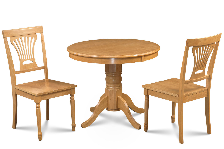 "36"" BROOKLINE DINETTE DINING ROOM TABLE SET W/. WOOD SEAT  IN OAK FINISH"
