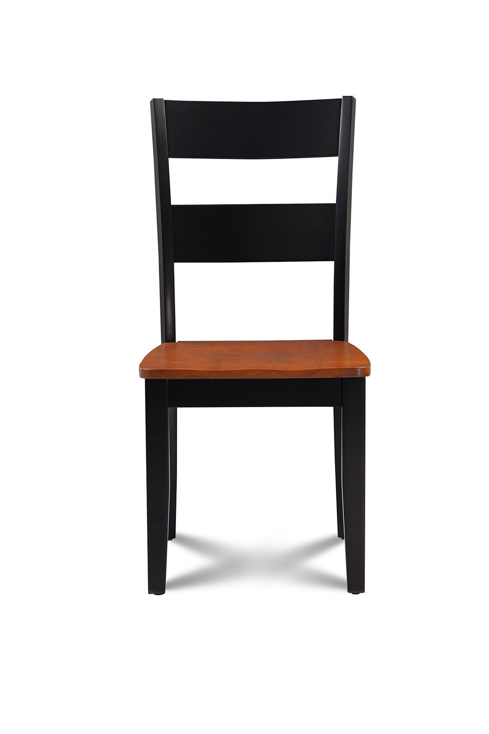 SET OF 4 KITCHEN DINING SIDE CHAIRS w/ WOODEN SEAT IN BLACK CHERRY