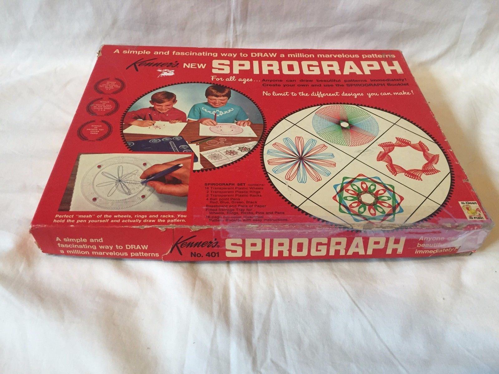 YuVtg Spirograph Kenner's Drawing Set