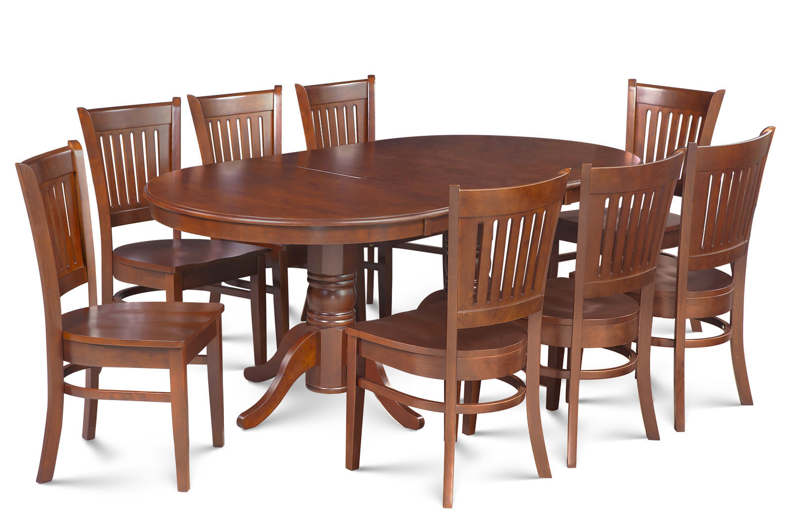 "SOMERVILLE DINETTE DINING ROOM TABLE SET 42""X78"" W. WOODEN SEATS IN ESPRESSO"