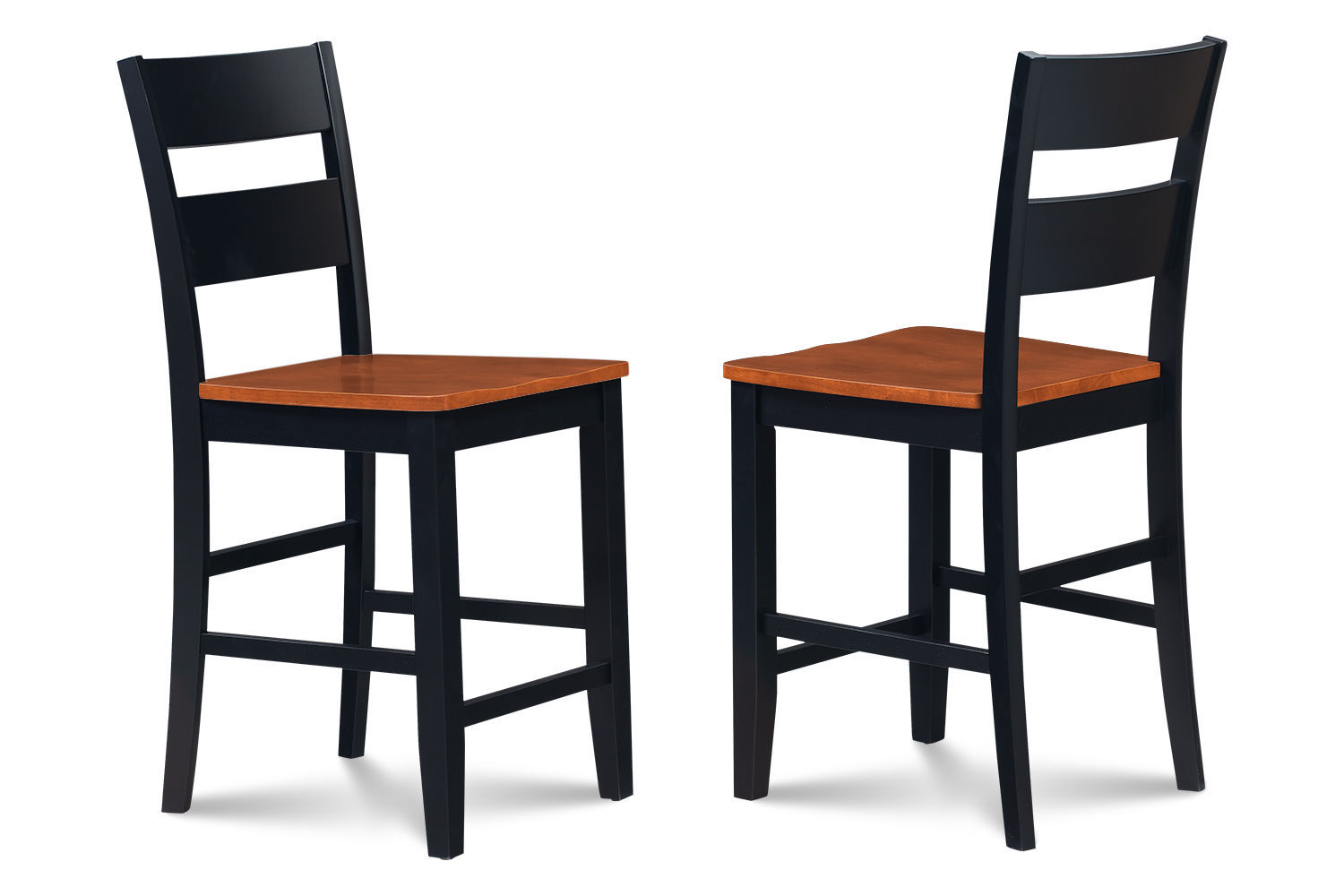 """54"""" SQUARE COUNTER HEIGHT TABLE DINING ROOM SET IN BLACK CHERRY"""