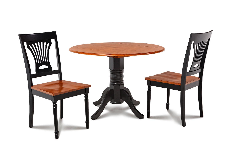 "42"" BURLINGTON DINETTE DINING TABLE SET WITH 9"" DROP LEAVES"