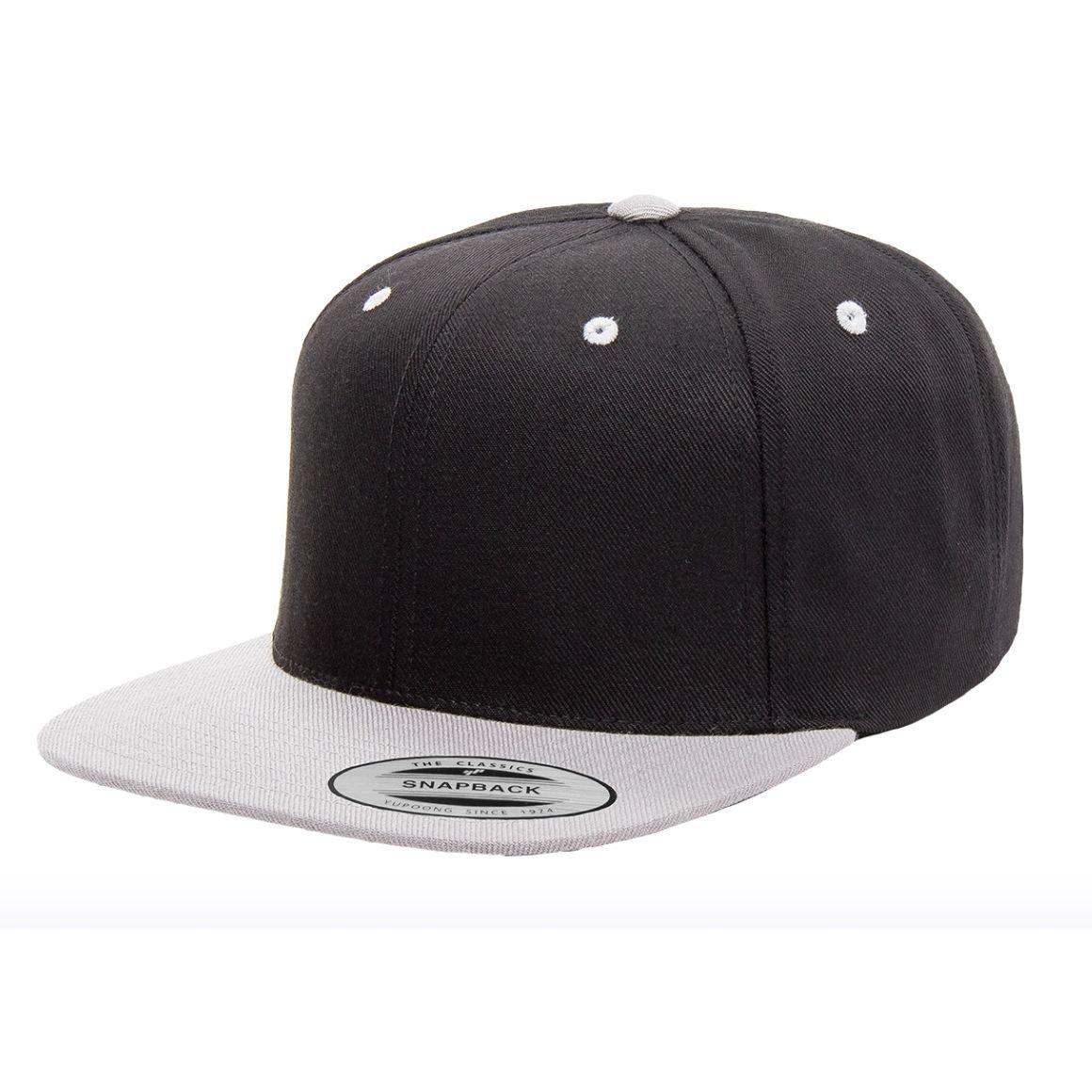 Yupoong Flexfit 6089MT Classic 2 Tone Snapback Baseball Blank Plain Hat Cap