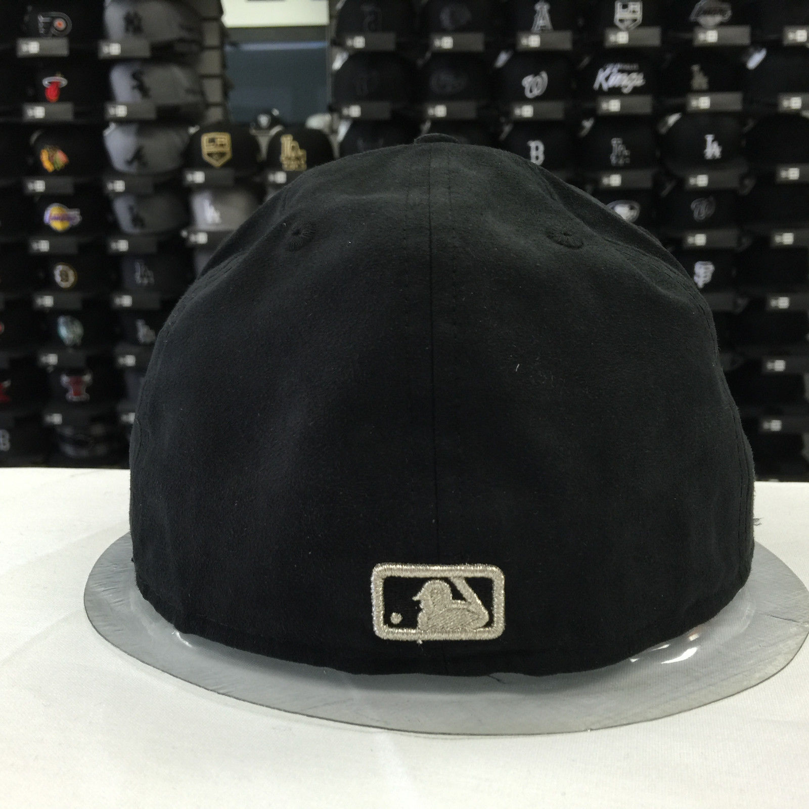 New Era 59Fifty MLB Los Angeles Dodgers Black Suede Grey Fitted