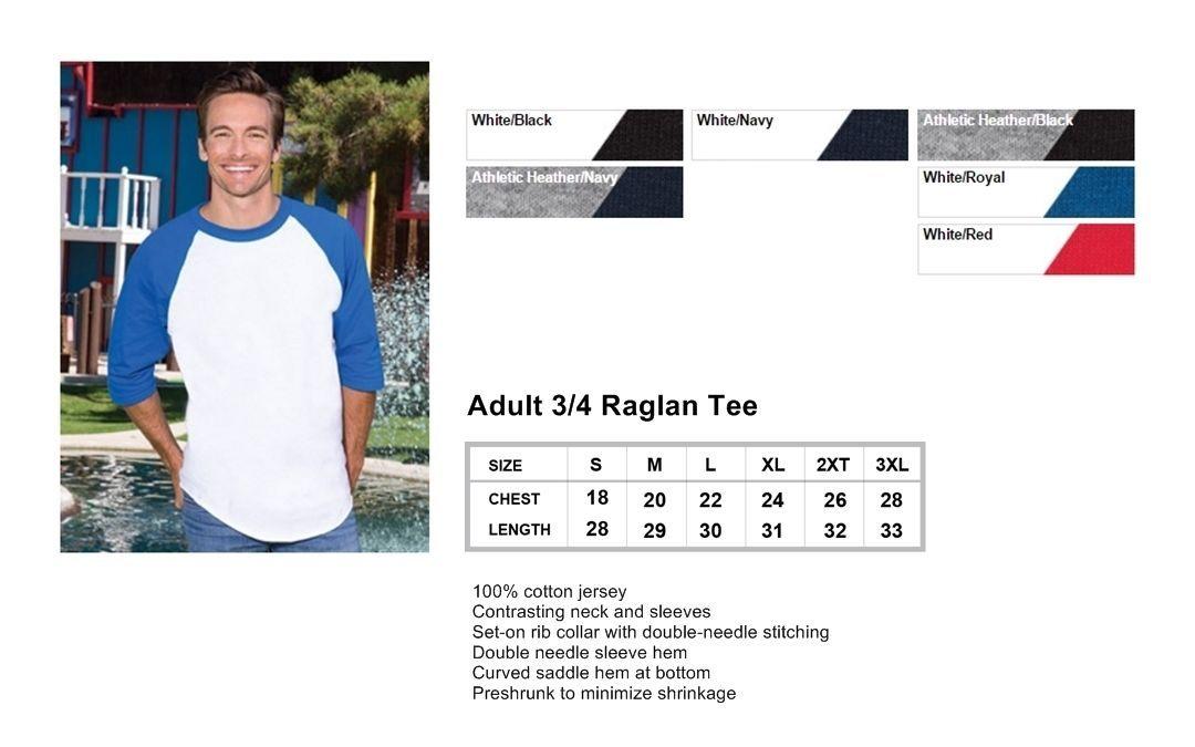 Custom New York Yankees Block 3/4 Raglan Baseball T-Shirt - Front & Back C01