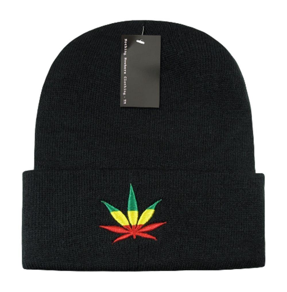 DECKY Weed Graphic Cuff Beanie Knit Hat Cap N29