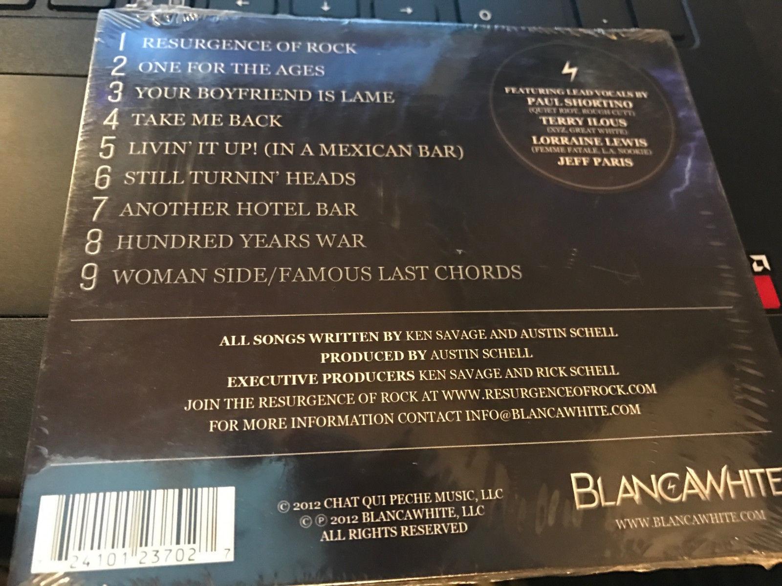 """BlancaWhite """"Resurgence of Rock"""" cd SEALED"""