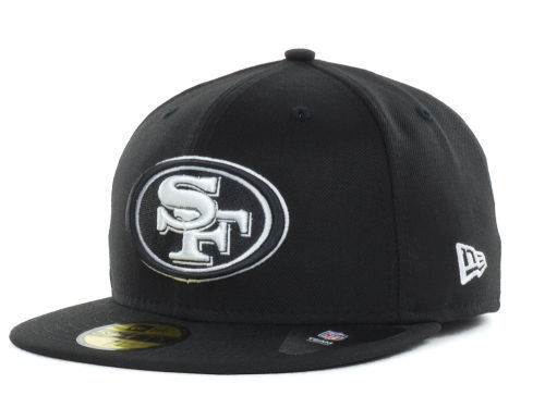 New Era 59Fifty NFL San Francisco 49ers Black/White Fitted Cap