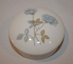 WEDGWOOD Bone China England Ice Rose Round Covered Trinket Box #1137 - $25.00