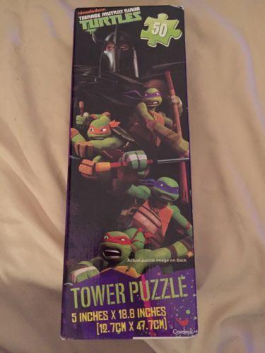 Teenage Mutant Ninja Turtles 50 Pc Tower Puzzle Ages 3+ TMNT. New Sealed