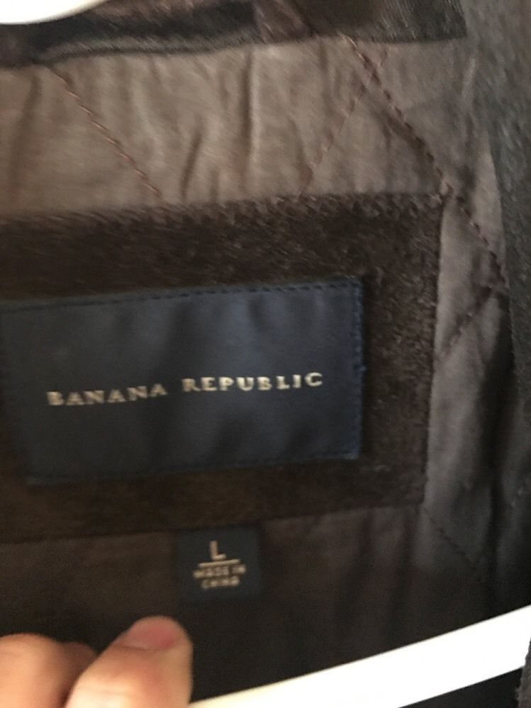 Banana Republic Men's Brown Soft  Suede Leather Jacket Size Large