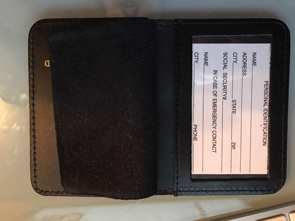 NYPD Police Officer Mini Badge Officer Husband bi-fold Wallet - 2016 NYPD PBA