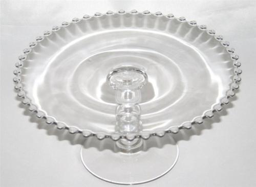 IMPERIAL GLASS CANDLEWICK Clear Elegant Round Footed Cake Stand #1101
