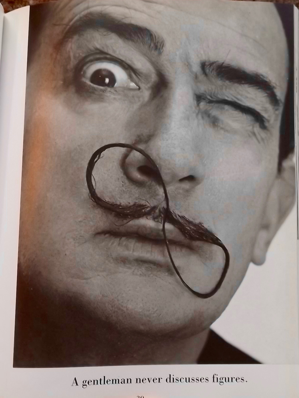 Dali's Mustache by Salvador Dali, Brahaus, The Dot & the Line